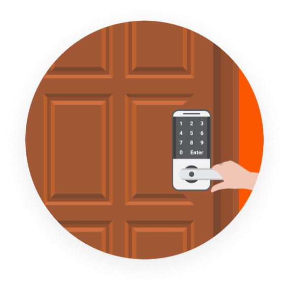 On-demand Door Illustration